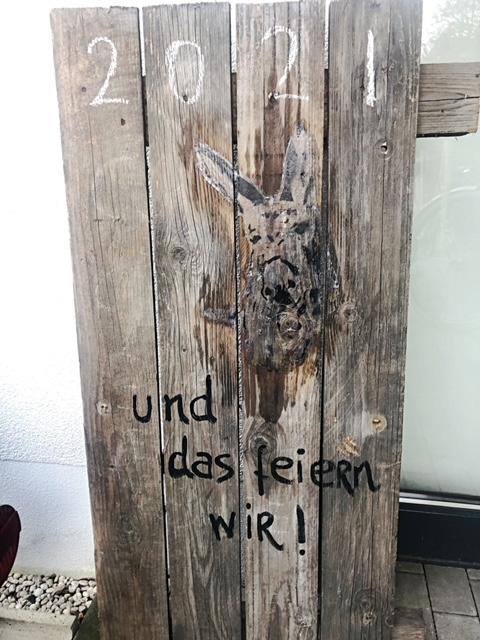Esel auf Holz